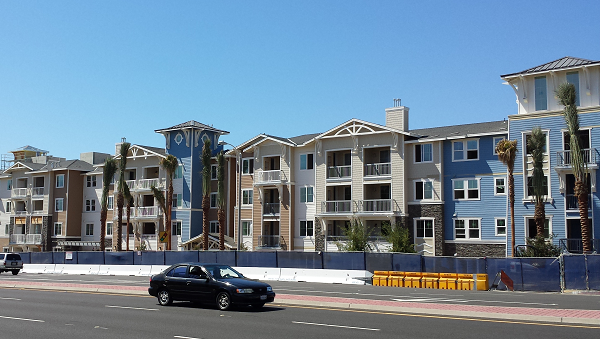 Residential project with 10% affordable housing nearing completion on Beach Blvd. in Huntington Beach.